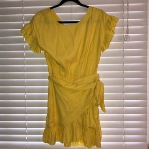 Never worn yellow wrap dress from Vici!